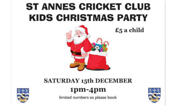 Kids Christmas Party at St. Annes Cricket Club