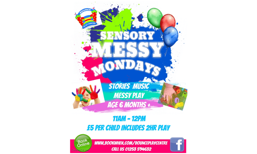 Sensory Messy Play at Bounce Play Centre Blackpool